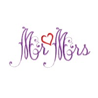 mr & mrs script lettering machine embroidery design love wedding heart art pes hus dst needle passion embroidery npe