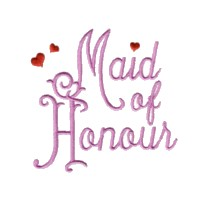 maid of honour script lettering machine embroidery design love wedding heart party art pes hus dst needle passion embroidery npe