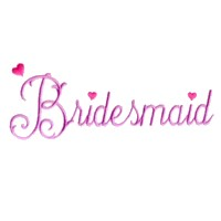 bridesmaid script lettering machine embroidery design wedding heart party art pes hus dst needle passion embroidery npe
