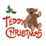 merry christmas teddy greeting lettering with teddy bear and holly machine embroidery design baby toys kids children art pes hus dst